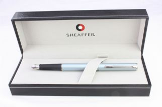 Sheaffer Agio Frosted Blue Fountain Pen